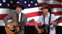 Jimmy Fallon and Adam Sandler show off their country music skills for a great cause