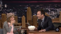 Grace VanderWaal and Jimmy Fallon sing with their mouths full