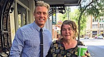 Man has lunch with homeless woman every Tuesday -- and he always brings 1 item