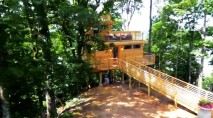 Peek inside this lavish Frank Lloyd Wright-inspired treehouse