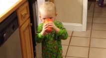 Little boy has the best reaction to tasting vegetable juice for the first time